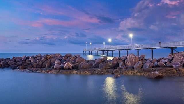 Darwin pier and water view